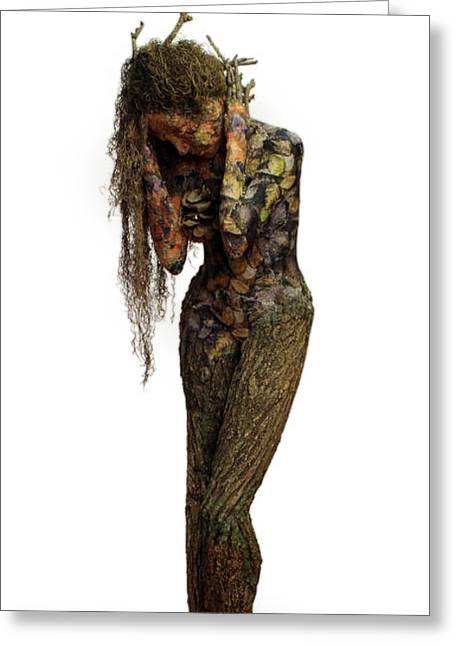 Mourning Moss A Sculpture By Adam Long Greeting Card by Adam Long