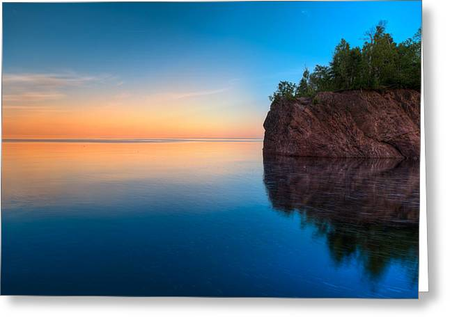Baptism Greeting Cards - Mouth Of The Baptism River Minnesota Greeting Card by Steve Gadomski