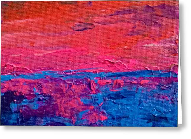 Pallet Knife Greeting Cards - Move the color  Greeting Card by Tom Harmon