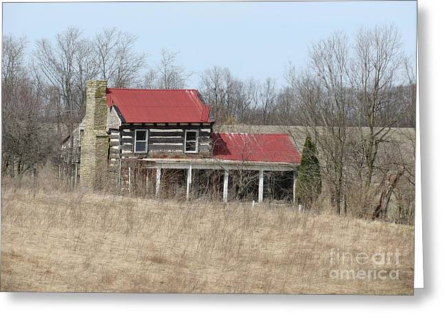 Tin Roof Greeting Cards - Moved On Greeting Card by Alan Crabtree