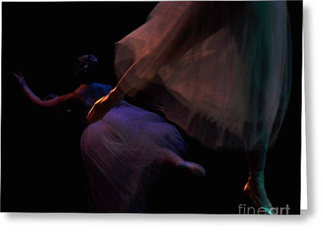 Tutu Digital Art Greeting Cards - Movement of  Ballet Greeting Card by Reb Frost