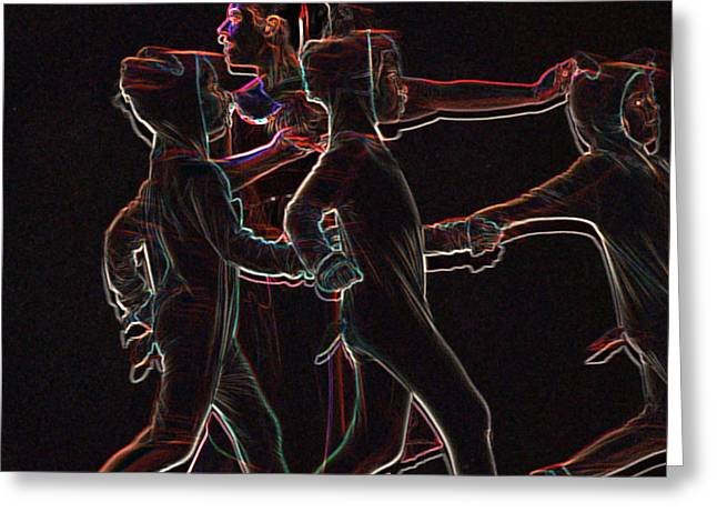 Neon Effects Greeting Cards - Movement Greeting Card by Reb Frost