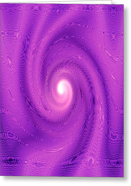 Missoula Greeting Cards - MoveOnArt Movement In Purple 2 Greeting Card by Jacob Kanduch