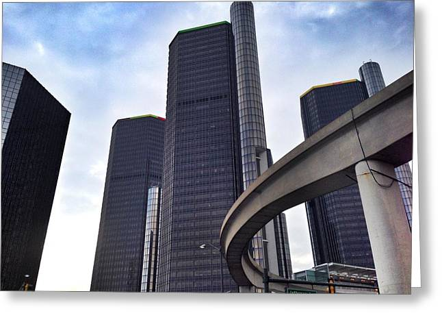 Renaissance Center Greeting Cards - Mover Greeting Card by Jim Richardson