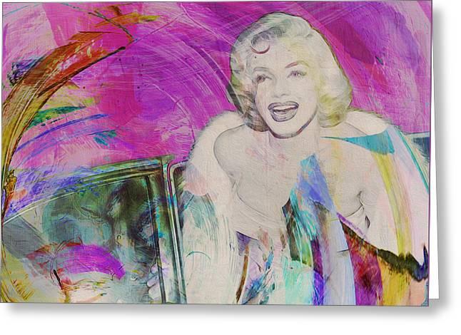 Movie Icons - Marilyn Monroe Iv Greeting Card by Joost Hogervorst