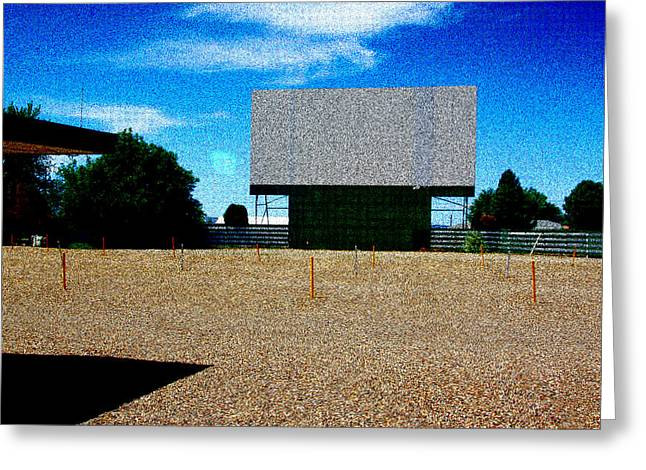 Outdoor Theater Greeting Cards - Movie Night In Parma Greeting Card by Ross Lewis