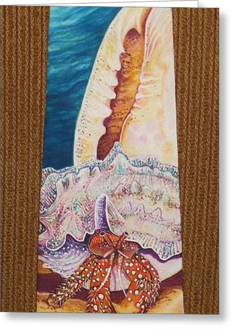 Marine Life Tapestries - Textiles Greeting Cards - Moving Day Greeting Card by David Kelly
