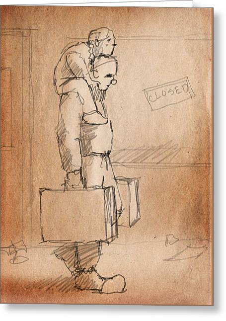Moving Day Greeting Card by H James Hoff