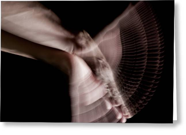 Stroboscopic Greeting Cards - Moving Hands A070450 Greeting Card by Rolf Bertram