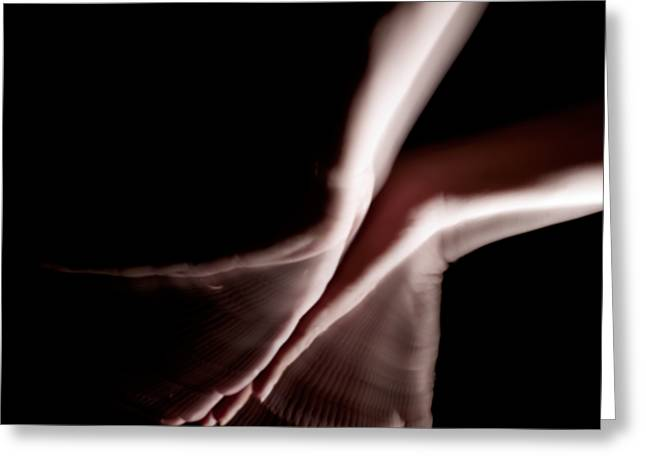 Stroboscopic Greeting Cards - Moving Hands A070492 Greeting Card by Rolf Bertram