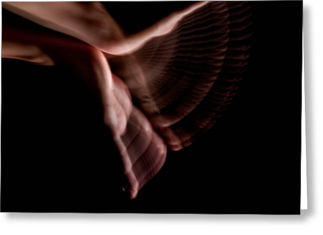 Stroboscopic Greeting Cards - Moving Hands A070528 Greeting Card by Rolf Bertram