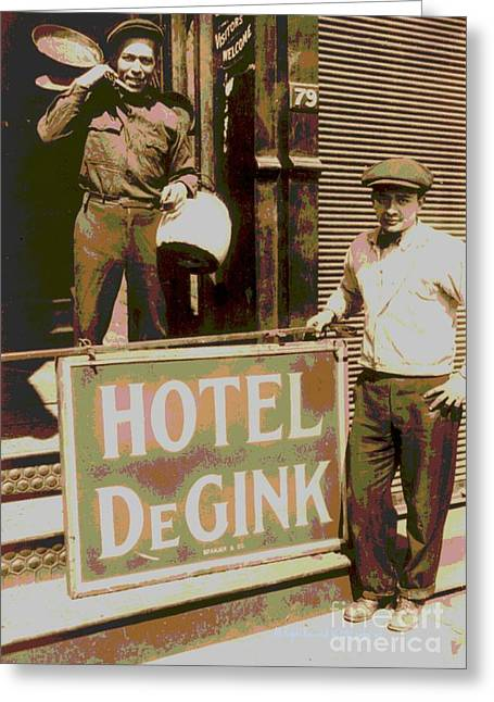 Padre Art Greeting Cards - Moving Hotel DeGink Greeting Card by Padre Art
