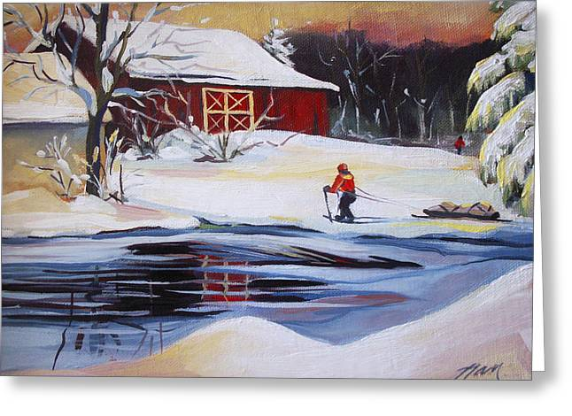 Moving Into Winter Haven Greeting Card by Nancy Griswold