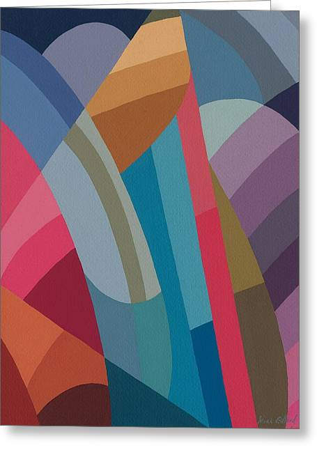Abstract Expressionist Greeting Cards - Moving On Greeting Card by Sarah Gillard