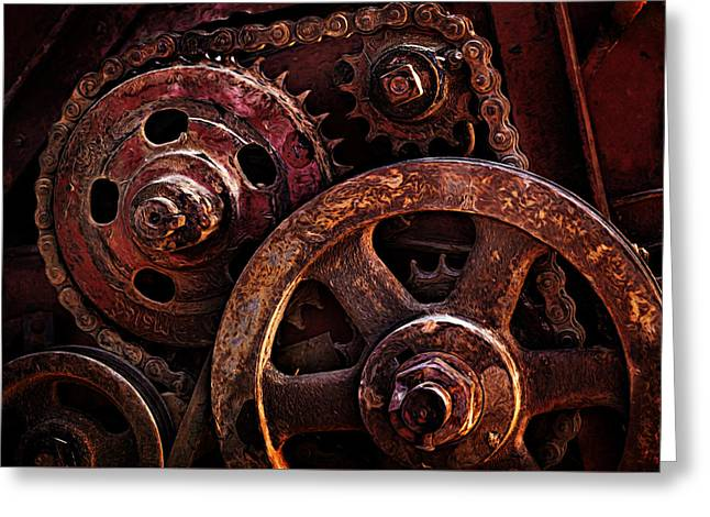 Mechanism Greeting Cards - Moving Parts Greeting Card by Mary Jo Allen