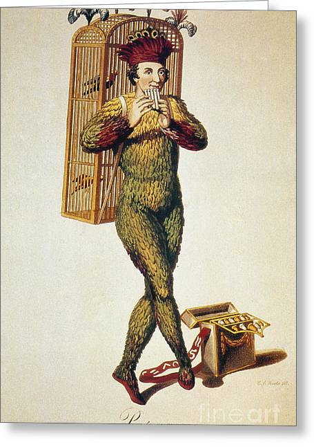 Wolfgang Greeting Cards - Mozart: Magic Flute, 1791 Greeting Card by Granger