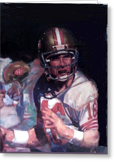 Owner Greeting Cards - Mr 16 Like No Other Mr Joe Montana Greeting Card by Jay Milo