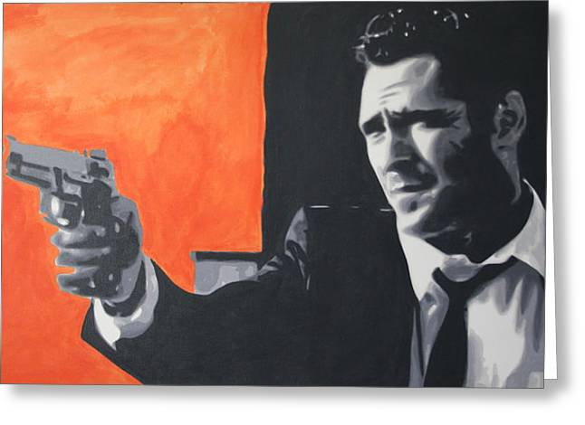 Reservoir Dogs Greeting Cards - Mr Blonde 2013 Greeting Card by Luis Ludzska