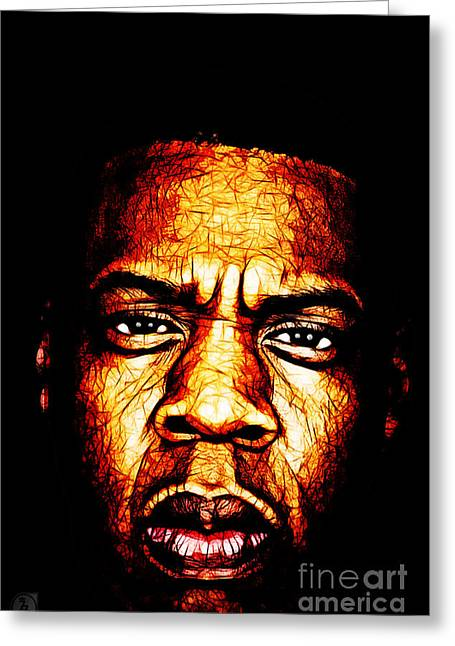 Jay Z Greeting Cards - Mr Carter Greeting Card by The DigArtisT