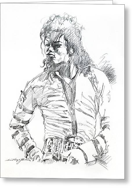 Legend Drawings Greeting Cards - Mr. Jackson Greeting Card by David Lloyd Glover