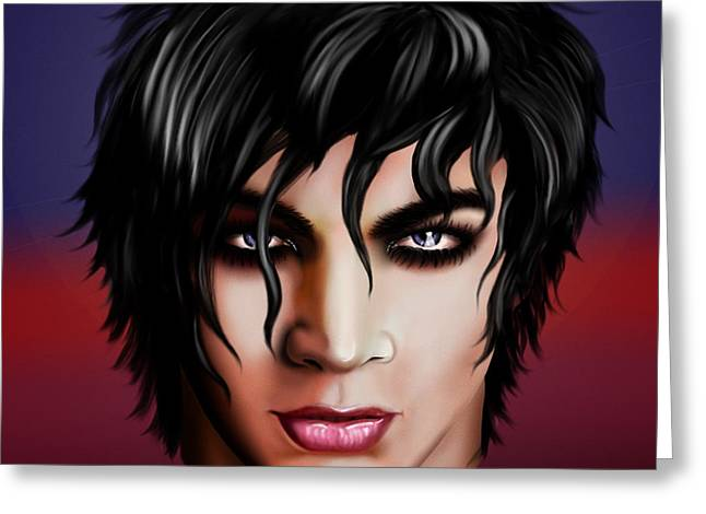 Adam Lambert Greeting Cards - Mr. Lambert Greeting Card by Karla White