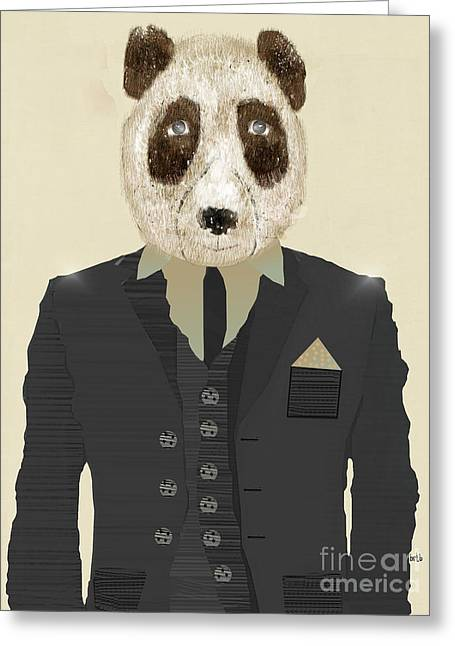 Fashion Designers Greeting Cards - Mr Panda  Greeting Card by Bri Buckley