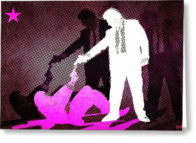 Reservoir Dogs Greeting Cards - Mr Pink and  Mr White Greeting Card by Surj LA