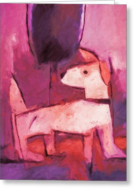 Dogs. Doggy Greeting Cards - Mr Pink Greeting Card by Lutz Baar
