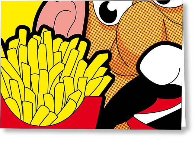French Fries Digital Greeting Cards - Mr Potato Fry Greeting Card by Crystal Edge