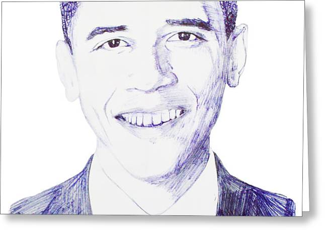 Mr. President Greeting Card by Benjamin McDaniel