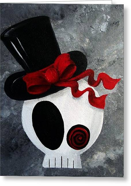 Oddball Art Greeting Cards - Mr. Punk Love Greeting Card by Oddball Art Co by Lizzy Love