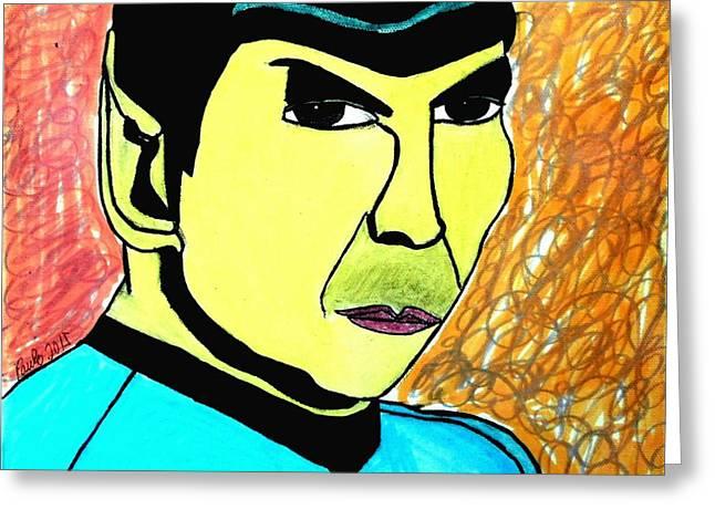 Mr. Spock Greeting Card by Paulo Guimaraes