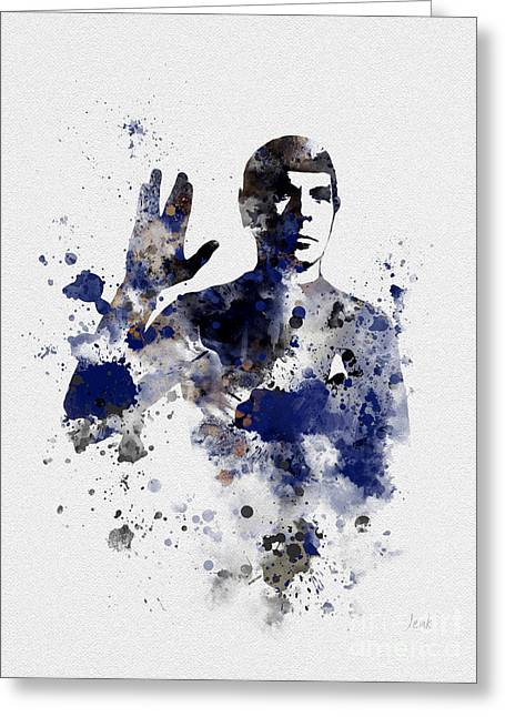 Vulcan Greeting Cards - Mr Spock Greeting Card by Rebecca Jenkins