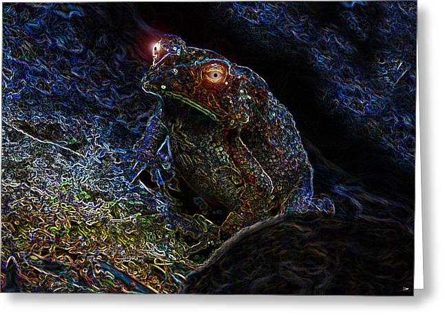 Glowing Eyes Greeting Cards - Mr Toads Wild Eyes Greeting Card by David Lee Thompson