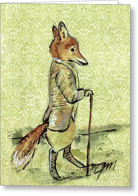 Red Fox Greeting Cards - Mr. Tod Greeting Card by Jessica Matthews