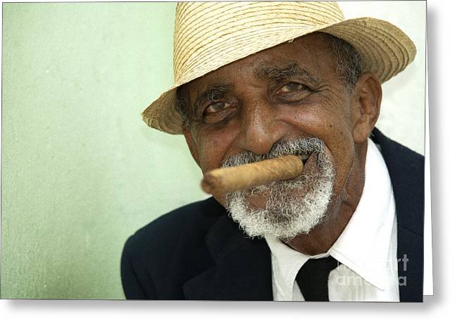 Black Tie Photographs Greeting Cards - Mr Trinidad  Greeting Card by Rob Hawkins