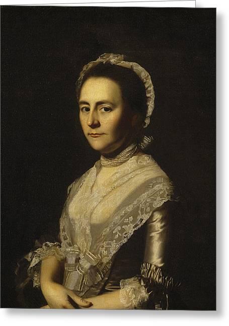 Mrs Alexander Cumming Greeting Card by John Singleton Copley