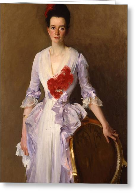 Red Dress Greeting Cards - Mrs Archibald Douglas Dick Greeting Card by John Singer Sargent