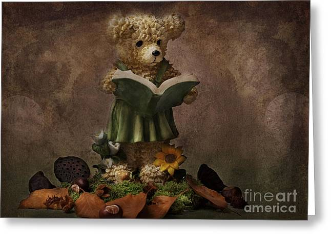 Figurs Greeting Cards - Mrs Bear Greeting Card by Angela Doelling AD DESIGN Photo and PhotoArt