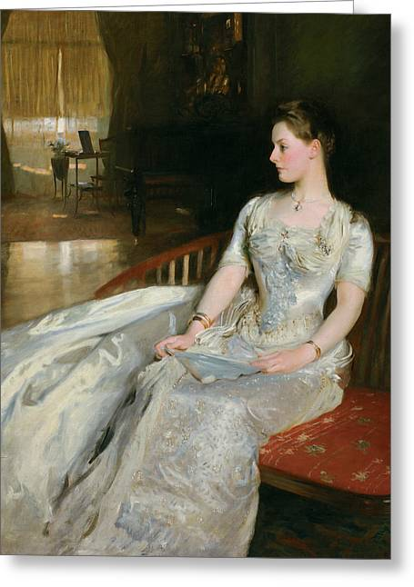 Portrait Of Woman Greeting Cards - Mrs Cecil Wade Greeting Card by John Singer Sargent