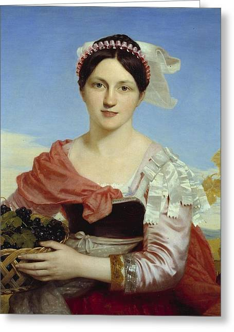 Mrs Charles H Bellenden Ker Greeting Card by Charles Lock