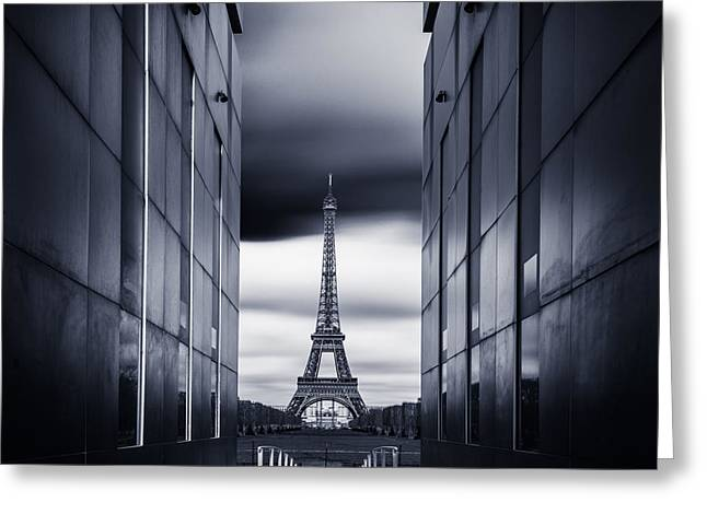Paris Greeting Cards - Mrs Eiffel Greeting Card by Charly Lataste