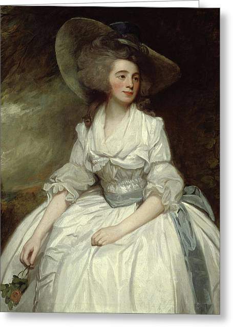 Mrs Francis Russell Greeting Card by George Romney