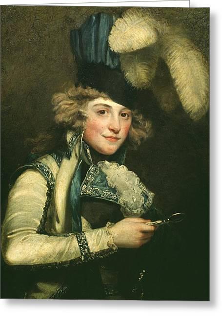 Mrs Jordan As Hypolita Greeting Card by John Hoppner