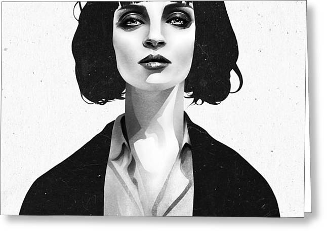 Mrs Mia Wallace Greeting Card by Ruben Ireland