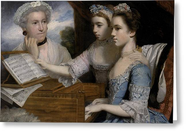 Mrs. Greeting Cards - Mrs Paine and the Misses Paine Greeting Card by Sir Joshua Reynolds