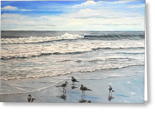 Bule Greeting Cards - Mrytle Beach Greeting Card by Mike Ivey