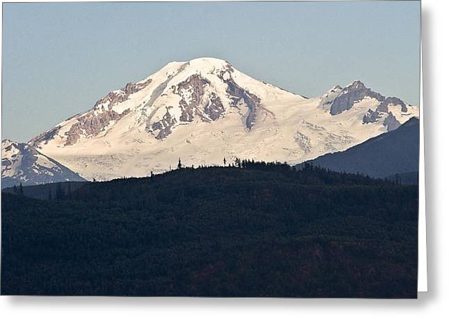 Snow Capped Greeting Cards - Mt. Baker from Abbotsford Greeting Card by Marion McCristall
