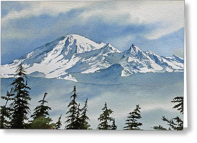 Landscape Framed Prints Greeting Cards - Mt. Baker Mist Greeting Card by James Williamson