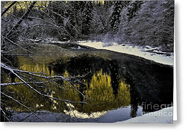 Bruster Greeting Cards - Mt Baker Reflections Greeting Card by Clayton Bruster
